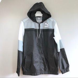 Puma mens nylon colorblock windbreaker jacket M